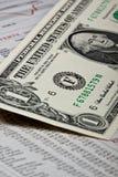 Voorraad en geld Royalty-vrije Stock Fotografie