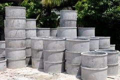 Voorraad van cementpijp Stock Foto's