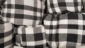 Voorraad van Zwart-witte symmetrie op het patroon van de scotstof voor manier de textiel commerciële industrie Stock Foto's