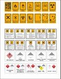 Voorraad vectorbedrijfsveiligheid en gezondheidssignaleringen, waarschuwend uithangbord royalty-vrije stock afbeelding