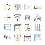 Voorraad Vectorillustratie: Behendige pictogramreeks Stock Afbeelding