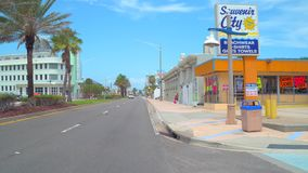Voorraad videomain street Daytona Beach FL stock video