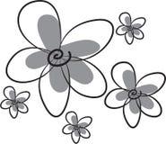 Voorraadbeeld: Bloemen en bloemblaadjes royalty-vrije illustratie