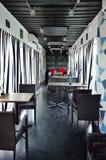 Voorraadbeeld van Binnenland van restaurant Eigentijds ontwerp Stock Afbeelding