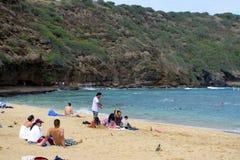 Voorraadbeeld van Hanauma-Baai, Oahu, Hawaï Stock Foto's