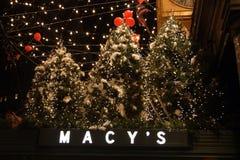 Voorraadbeeld van Kerstmisdecoratie in de V.S. Stock Afbeelding