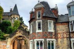Voorraadbeeld van Oude architectuur in Nottingham, Engeland stock foto's