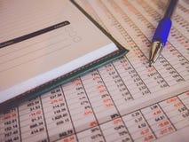 Voorraadboekhouding Royalty-vrije Stock Foto
