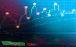 Voorraadforex handel de bedrijfsgrafiekgrafieken van financiële forex grafiekengrafiek schepen de vertoningsvoorraad in van de ge vector illustratie