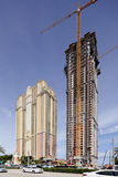 Voorraadfoto van de bouw van de Herenhuizen in Aqualina Royalty-vrije Stock Afbeeldingen