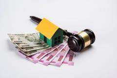 Voorraadfoto van India en onroerende goederenwet, Indische wet voor onroerende goederen/bouwbedrijf/architecten/bouwers of kopers Royalty-vrije Stock Fotografie