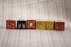 Voorraden stock afbeelding