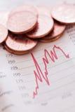 Voorraden & aandelen stock afbeelding