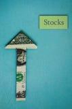 Voorraden omhoog stock foto's