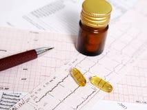 Voorschrift omega 3 pillen voor hart royalty-vrije stock afbeeldingen