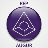 Voorspel het pictogram van Muntstukcryptocurrency blockchain Virtueel elektronisch, Internet-geld of cryptocoin symbool, embleem stock illustratie
