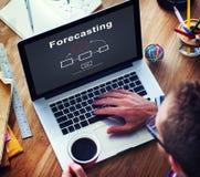 Voorspellend van de Bedrijfs voorspellingsschatting Toekomstig Concept royalty-vrije stock foto's