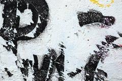 Voorstad Achtergrondgraffiti op muren buiten divers royalty-vrije stock afbeelding