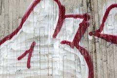 Voorstad Achtergrondgraffiti op muren buiten divers royalty-vrije stock foto