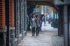 Voorstad van Philadelphia in de herfst Stock Foto's