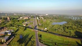Voorstad van Vitebsk Brug Weg stock videobeelden