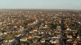 Voorsteden van hierboven stock footage