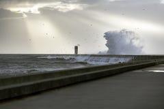 Voorteken van onweer op zee royalty-vrije stock afbeeldingen