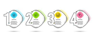 Voortgezet onderwijs, Trofee en Onderzoeksresultatenpictogrammen Ideeteken Online onderwijs, Winnaarkop, Beste antwoord Vector stock illustratie