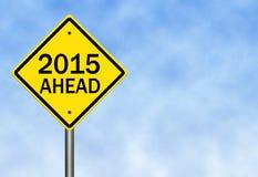 2015 vooruit Royalty-vrije Stock Foto's