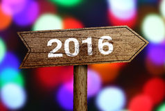 2016 vooruit Royalty-vrije Stock Foto's