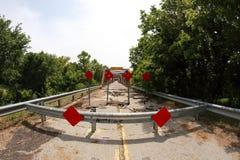 Vooruit gesloten brug Royalty-vrije Stock Foto's