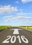2016 vooruit op weg Stock Foto's