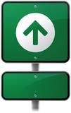 Vooruit Pijlverkeersteken vector illustratie
