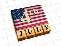 Vooruit van Juli Royalty-vrije Stock Fotografie