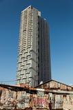 Vooruitgang van een nieuw gebouw stock fotografie