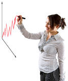 Vooruitgang in zaken Stock Foto's