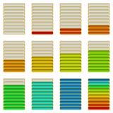 Vooruitgangsbars, reeks Stock Afbeelding