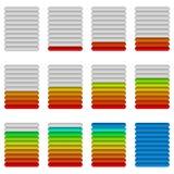 Vooruitgangsbars, reeks Royalty-vrije Stock Afbeelding