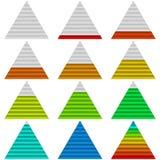 Vooruitgangsbars, reeks, driehoeken Royalty-vrije Stock Foto's