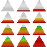 Vooruitgangsbars, reeks, piramides Royalty-vrije Stock Foto's