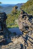 Vooruitzicht, blauw bergen nationaal park, Australië 2 royalty-vrije stock foto's