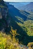 Vooruitzicht, blauw bergen nationaal park, Australië 5 stock afbeelding