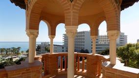 Vooruitzicht--Mudejar stijl-Palacio-los-Navajas ANDALUSIA-Spanje stock foto's