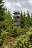 Vooruitzicht op heuvel Sunava, Slowakije royalty-vrije stock foto's