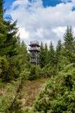 Vooruitzicht op heuvel Sunava, Slowakije royalty-vrije stock afbeelding