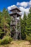 Vooruitzicht op heuvel Sunava, Slowakije stock foto's