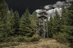 Vooruitzicht op heuvel Sunava, Slowakije stock fotografie