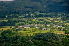 Vooruitzicht over Sil-rivier, Ribeira Sacra royalty-vrije stock afbeeldingen