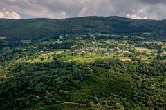 Vooruitzicht over Sil-rivier, Ribeira Sacra royalty-vrije stock afbeelding