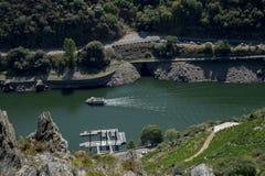 Vooruitzicht over Sil-rivier stock afbeelding
